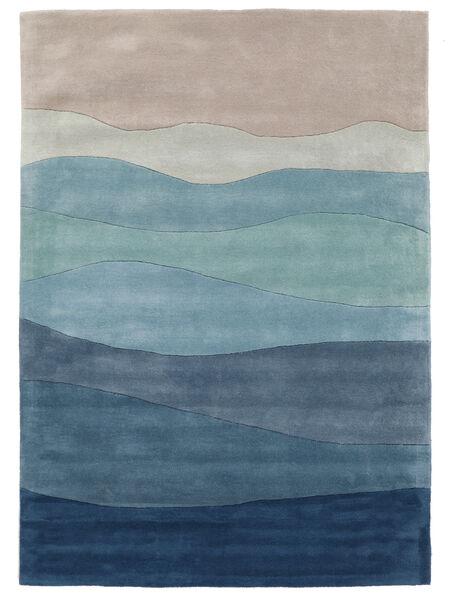 Feeling Handtufted - Azul Tapete 160X230 Moderno Azul Claro/Cinzento Claro/Azul (Lã, Índia)