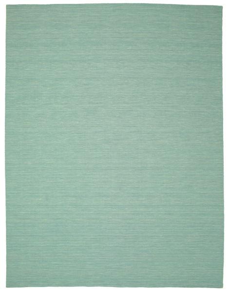 Kilim Loom - Mint Verde Tapete 300X400 Moderno Tecidos À Mão Verde Pastel/Azul Turquesa Grande (Lã, Índia)