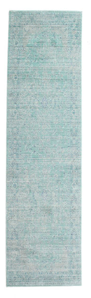 Maharani - Azul Tapete 80X300 Moderno Tapete Passadeira Azul Claro/Verde Pastel ( Turquia)