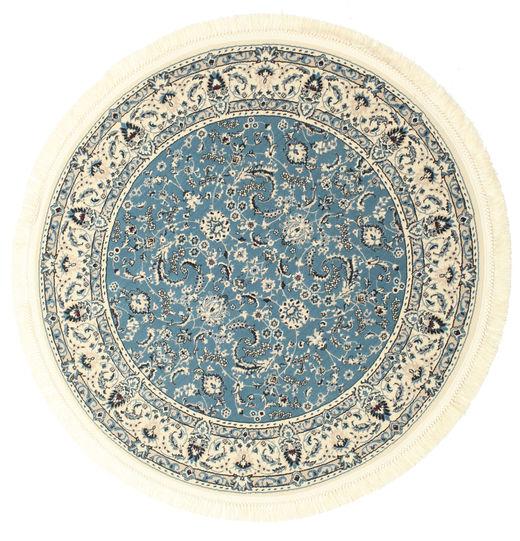 Nain Florentine - Azul Claro Tapete Ø 150 Oriental Redondo Bege/Azul ( Turquia)