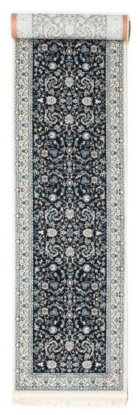 Nain Florentine - Azul Escuro Tapete 80X400 Oriental Tapete Passadeira Cinzento Claro/Cinza Escuro ( Turquia)