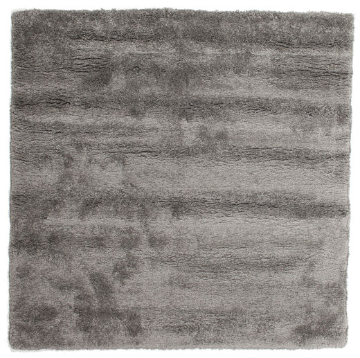 Shaggy Sadeh - Cinzento Tapete 200X200 Moderno Quadrado Cinza Escuro/Cinzento Claro ( Turquia)