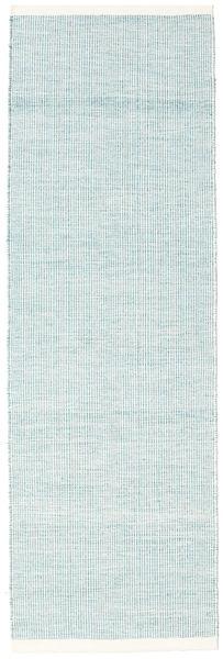 Seaby - Azul Tapete 80X300 Moderno Tecidos À Mão Tapete Passadeira Azul Claro/Branco/Creme ( Índia)