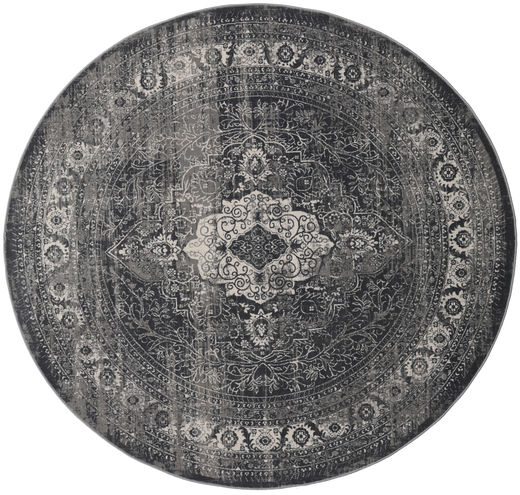 Jacinda - Anthracite Tapete Ø 200 Moderno Redondo Cinza Escuro/Preto ( Turquia)