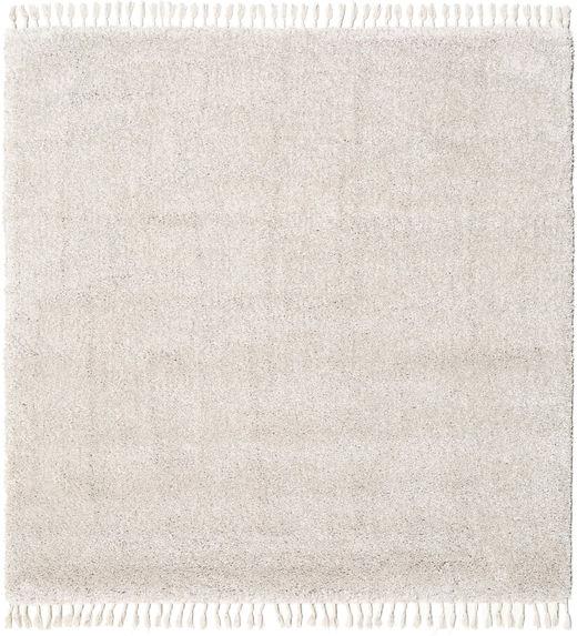 Boho - Natural Tapete 200X200 Moderno Quadrado Cinzento Claro/Branco/Creme ( Turquia)