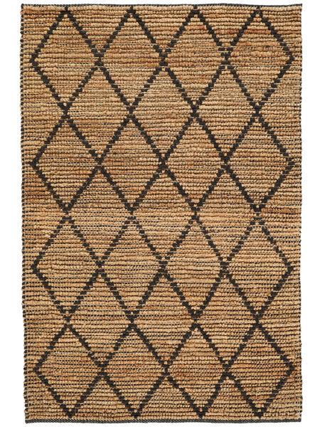 Tapete De Exterior Serena Jute - Natural/Preto Tapete 120X180 Moderno Tecidos À Mão Cinzento Claro/Bege (Tapete Jute Índia)