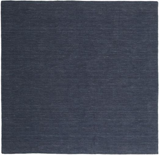 Kilim Loom - Denim Azul Tapete 250X250 Moderno Tecidos À Mão Quadrado Azul Escuro/Azul Grande (Lã, Índia)