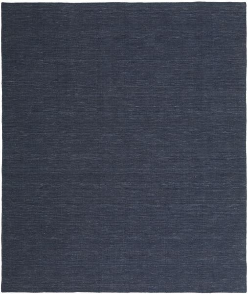 Kilim Loom - Denim Azul Tapete 250X300 Moderno Tecidos À Mão Azul Escuro/Azul Grande (Lã, Índia)