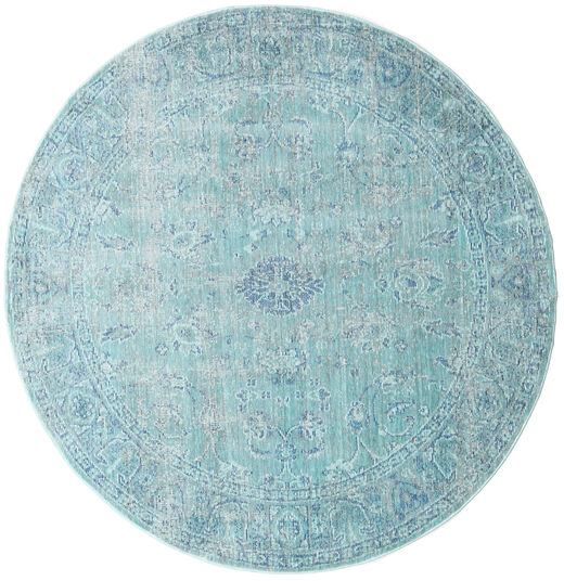 Maharani - Azul Tapete Ø 150 Moderno Redondo Azul Claro/Azul Turquesa ( Turquia)