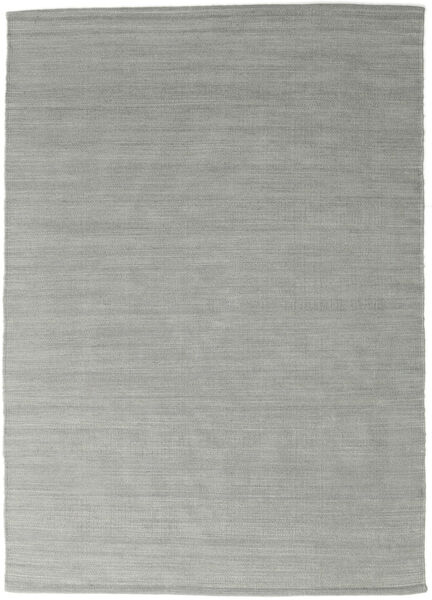 Kilim Loom - Cinzento Tapete 140X200 Moderno Tecidos À Mão Azul Turquesa/Cinzento Claro (Lã, Índia)
