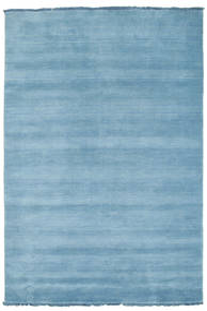 Handloom Fringes - Azul Claro Tapete 140X200 Moderno Azul Claro (Lã, Índia)