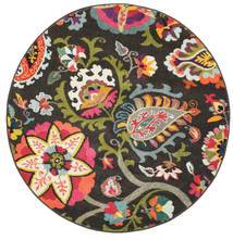 Allegra - Escuro Tapete Ø 150 Moderno Redondo Cinza Escuro ( Turquia)