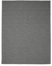 Kilim Loom - Cinza Escuro Tapete 300X400 Moderno Tecidos À Mão Verde Escuro/Cinzento Claro Grande (Lã, Índia)