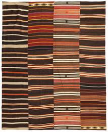 Kilim Patchwork Tapete 242X298 Moderno Tecidos À Mão Castanho Escuro/Vermelho (Lã, Turquia)