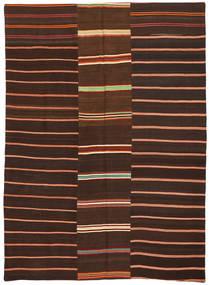 Kilim Patchwork Tapete 175X241 Moderno Tecidos À Mão Castanho Escuro/Vermelho Escuro (Lã, Turquia)