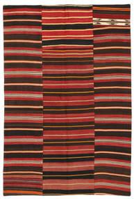 Kilim Patchwork Tapete 153X228 Moderno Tecidos À Mão Castanho Escuro/Vermelho Escuro/Castanho Alaranjado (Lã, Turquia)
