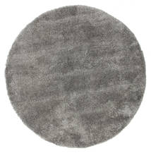 Shaggy Sadeh - Cinzento Tapete Ø 150 Moderno Redondo Cinza Escuro/Cinzento Claro ( Turquia)