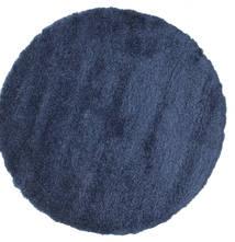 Shaggy Sadeh - Azul Tapete Ø 150 Moderno Redondo Azul Escuro ( Turquia)