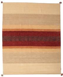 Loribaf Loom Tapete 172X241 Moderno Feito A Mão Bege Escuro/Vermelho Escuro (Lã, Índia)