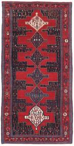 Senneh Patina Tapete 128X277 Oriental Feito A Mão Vermelho/Preto (Lã, Pérsia/Irão)