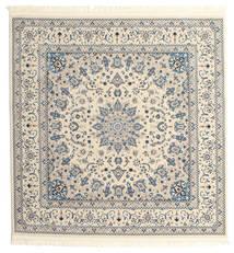 Nain Emilia - Cream/Claro Azul Tapete 150X150 Oriental Quadrado Cinzento Claro/Bege ( Turquia)