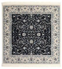 Nain Florentine - Azul Escuro Tapete 150X150 Oriental Quadrado Cinza Escuro/Bege ( Turquia)