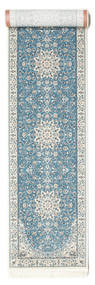 Nain Emilia - Azul Claro Tapete 80X400 Oriental Tapete Passadeira Cinzento Claro/Azul Claro ( Turquia)