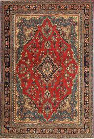 Hamadã Patina Tapete 210X312 Oriental Feito A Mão Cinza Escuro/Castanho Escuro (Lã, Pérsia/Irão)