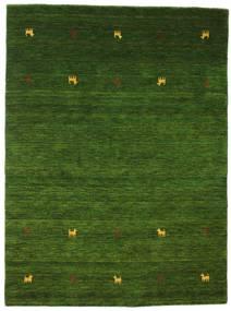 Gabbeh Loom Two Lines - Verde Tapete 140X200 Moderno Verde Escuro (Lã, Índia)
