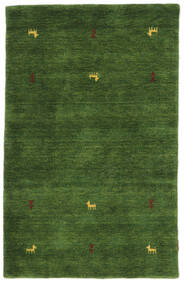 Gabbeh Loom Two Lines - Verde Tapete 100X160 Moderno Verde Escuro (Lã, Índia)