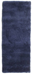 Shaggy Sadeh - Azul Tapete 80X300 Moderno Tapete Passadeira Azul Escuro/Porpora Escuro ( Turquia)