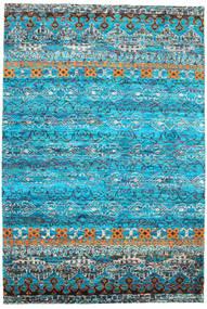 Quito - Turquesa Tapete 190X290 Moderno Feito A Mão Azul Turquesa/Azul (Seda, Índia)