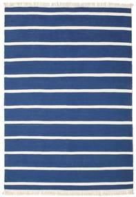 Dhurrie Stripe - Azul Escuro Tapete 160X230 Moderno Tecidos À Mão Azul Escuro/Azul (Lã, Índia)