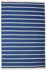 Dhurrie Stripe - Azul Escuro Tapete 220X320 Moderno Tecidos À Mão Azul Escuro/Azul (Lã, Índia)