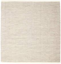 Seaby - Castanho Tapete 250X250 Moderno Tecidos À Mão Quadrado Cinzento Claro/Bege Grande (Lã, Índia)