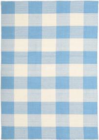 Check Kilim Tapete 160X230 Moderno Tecidos À Mão Azul Claro/Bege (Lã, Índia)