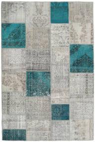 Patchwork Tapete 200X301 Moderno Feito A Mão Cinzento Claro/Azul Turquesa (Lã, Turquia)