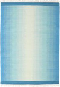 Ikat - Azul/Turquesa Tapete 210X290 Moderno Tecidos À Mão Azul Claro/Azul Turquesa (Lã, Índia)