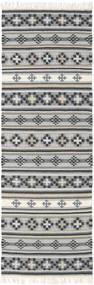 Kilim Cizre Tapete 80X250 Moderno Tecidos À Mão Tapete Passadeira Cinzento Claro/Cinza Escuro (Lã, Índia)