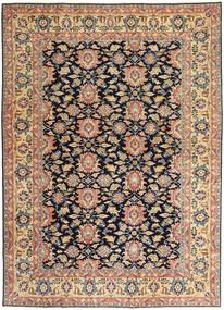 Sarough Patina Tapete 195X277 Oriental Feito A Mão Bege Escuro/Preto (Lã, Pérsia/Irão)