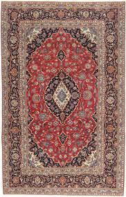 Kashan Patina Tapete 205X327 Oriental Feito A Mão Vermelho Escuro/Castanho Escuro (Lã, Pérsia/Irão)