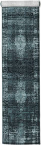 Jacinda - Escuro Tapete 80X300 Moderno Tapete Passadeira Azul Escuro/Azul ( Turquia)