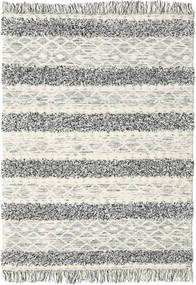 Kilim Berber Ibiza - Preto E Branco Tapete 160X230 Moderno Tecidos À Mão Cinzento Claro/Bege Escuro (Lã, Índia)