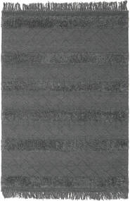 Kilim Berber Ibiza - Cinzento Claro Tapete 160X230 Moderno Tecidos À Mão Preto/Cinza Escuro (Lã, Índia)