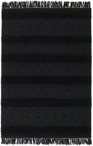 Kilim Berber Ibiza - Preto Carvão Tapete 160X230 Moderno Tecidos À Mão Cinza Escuro (Lã, Índia)