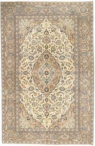 Kashan Patina Tapete 190X296 Oriental Feito A Mão Cinzento Claro/Bege Escuro (Lã, Pérsia/Irão)