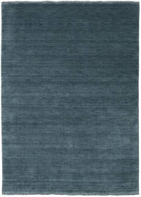 Handloom Fringes - Azul Petroleo Tapete 140X200 Moderno Azul/Azul Escuro (Lã, Índia)