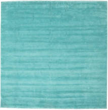 Handloom Fringes - Aqua Tapete 250X250 Moderno Quadrado Turquesa Escuro/Azul Turquesa Grande (Lã, Índia)