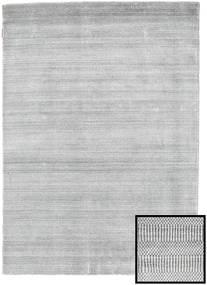 Bambu Grass - Cinzento Tapete 140X200 Moderno Cinzento Claro/Branco/Creme (Lã/Bamboo Seda, Turquia)