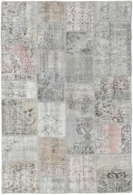 Patchwork Tapete 137X201 Moderno Feito A Mão Cinzento Claro (Lã, Turquia)